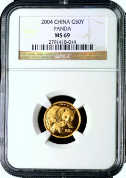 2004  50Y Gold  Panda NGC MS69 fs 2791418-014