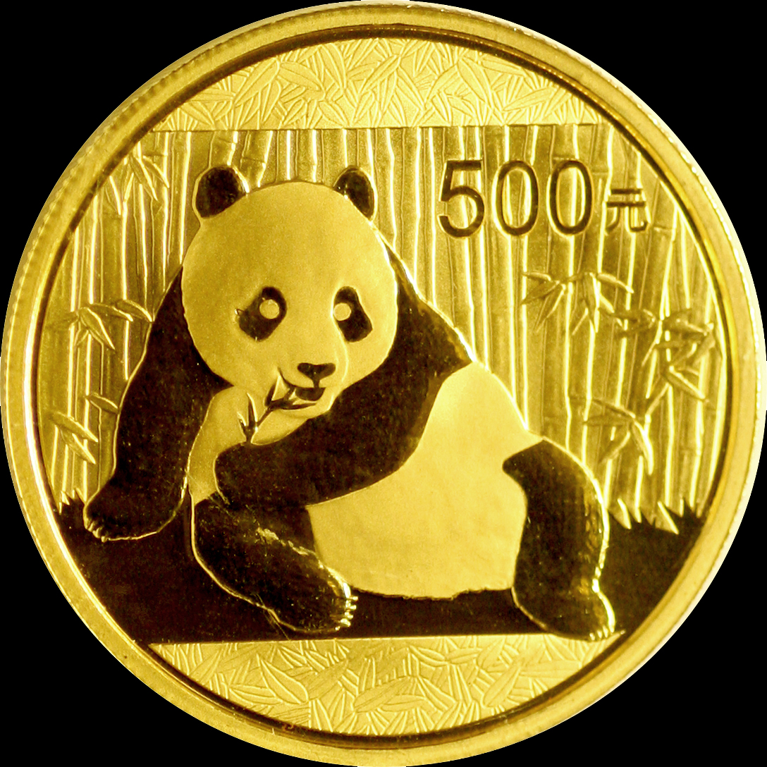 2015 500y China Gold Panda Coin 1 Oz