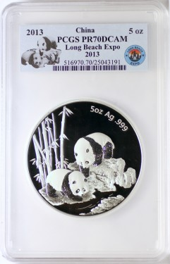 2013 5oz Silver Panda Long Beach PR70 25043191 fr