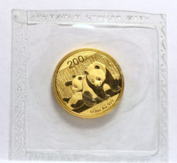 2010 200Y Gold Panda sealed f